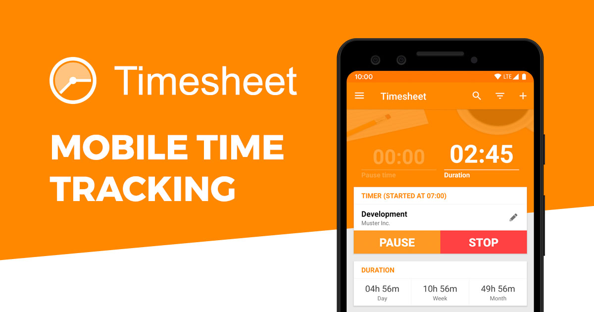 Plans Timesheet Mobile Time Tracking